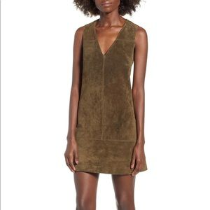 BLANKNYC Suede Shift Dress